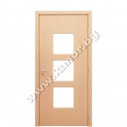 Интериорна врата модел С12, стъкло - бял дъб структура