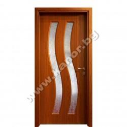 Интериорна врата модел К096 със стъкло - златен дъб