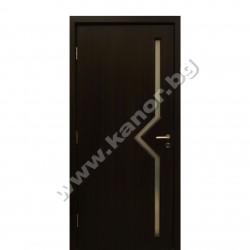 Интериорна врата С09 със стъкло - венге сруктура