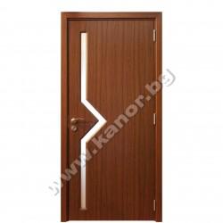 Интериорна врата С09 със стъкло - тик