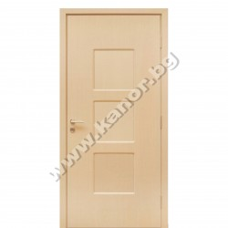Интериорна врата С12 плътна - бял дъб структура