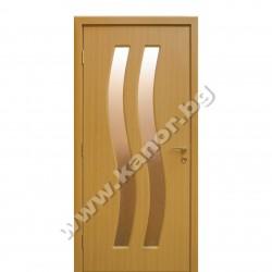 Интериорна врата К096 със стъкло - натурален дъб
