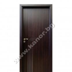 Интериорна врата К094 плътна - венге структура