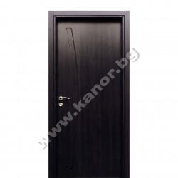 Интериорна врата С02 плътна - венге структура
