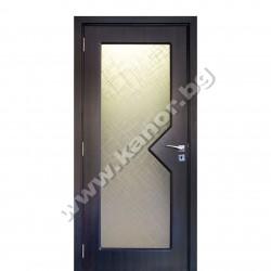 Интериорна врата С109 със стъкло - венге структура
