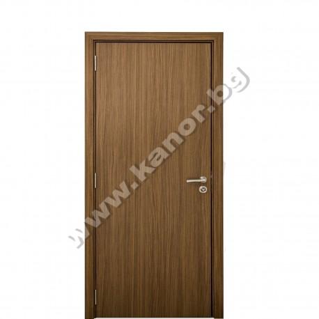 мебели | Интериорна врата К025 плътна - американски орех