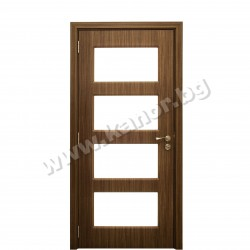 Интериорна врата К025 със стъкло американски орех