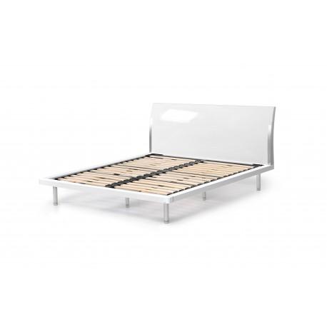мебели | Легло с подматрачна рамка бял гланц Д802-10Б6