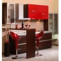Кухня Ламина червен