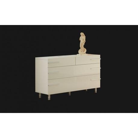 мебели | Ракла с чекмеджета Д6510Б в бял гланц